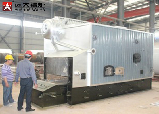 SZL Double Drum Wood Steam Boiler With 0.7MPa - 3.6MPa Pressure ISO9001